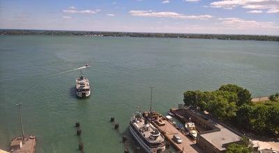 Photo of Harbor / Marina Ferry Dock Boardwalk Park at Toronto, ON, Canada
