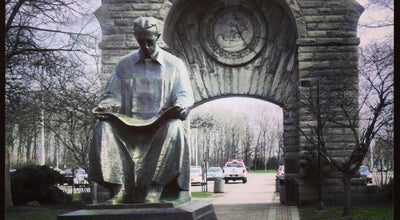 Photo of Outdoor Sculpture Nikola Tesla Statue (American side) at Goat Island, Niagara Falls, NY 14303, United States
