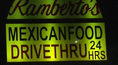 Photo of Taco Place Ramberto's Taco Shop at 1039 Sweetwater Rd, Spring Valley, CA 91977, United States