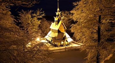 Photo of Church Fantoft stavkirke at Fantoft, Bergen 5072, Norway