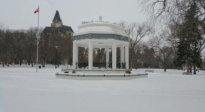 Photo of Park Kiwanis Memorial Park at Spadina Crescent, Saskatoon, SK, Canada