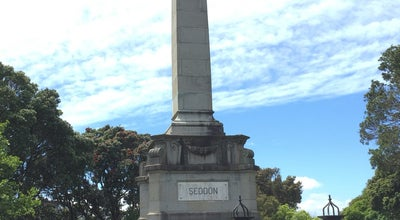 Photo of Monument / Landmark Seddon Memorial at Bolton St Memorial Park, Wellington, New Zealand