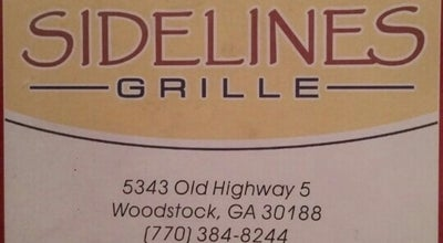 Photo of American Restaurant Sidelines Grille at 5343 Old Highway 5, Woodstock, GA 30188, United States