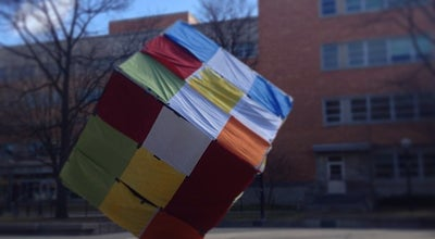 "Photo of Outdoor Sculpture The Cube ""Endover"" at 503 Thompson St, Ann Arbor, MI 48109, United States"