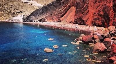 Photo of Beach Κόκκινη Παραλία (Red Beach) at Κόκκινη Παραλία, Santorini 847 00, Greece
