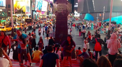 Photo of Historic Site Red Steps in Times Sqaure at 1 Times Sq, New York, NY 10036, United States