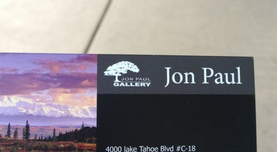 Photo of Art Gallery Jon Paul Gallery at 4000 Lake Tahoe Blvd # 18, South Lake Tahoe, CA 96150, United States
