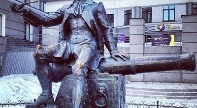 Photo of Outdoor Sculpture Памятник «Бомбардир Василий Корчмин» at 7-я Линия В.о., Санкт-Петербург, Russia
