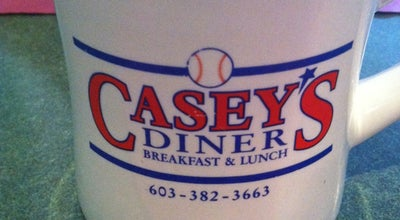 Photo of Breakfast Spot Casey's Diner at 31 Garden St, Plaistow, NH 03865, United States