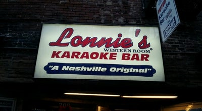 Photo of Karaoke Bar Lonnie's Western Room at 208 Printers Aly, Nashville, TN 37201, United States