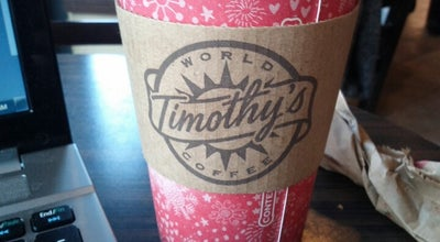 Photo of Coffee Shop Timothy's World Coffee at 320 Danforth Ave., Toronto, ON, Canada