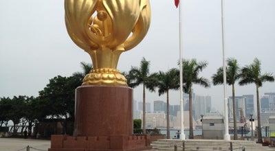Photo of Monument / Landmark Golden Bauhinia Square at 灣仔香港會展中心旁, Hong Kong, Hong Kong