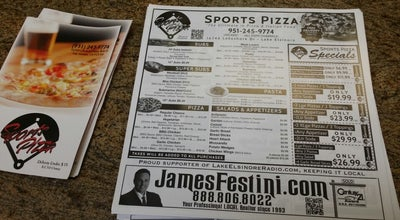 Photo of Pizza Place Sports Pizza at 16746 Lakeshore Dr, Lake Elsinore, CA 92530, United States