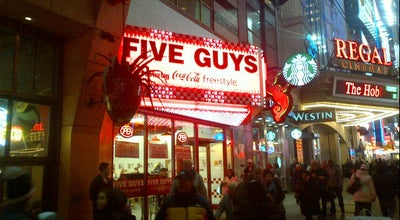 Photo of Burger Joint Five Guys Burgers & Fries at 255 W 42nd St, New York, NY 10036, United States