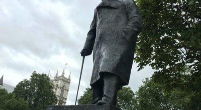 Photo of Monument / Landmark Churchill Statue at Parliament Square, London SW1, United Kingdom