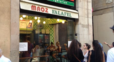 Photo of Falafel Restaurant Maoz Vegetarian at C. Ferran, 13, Barcelona 08002, Spain