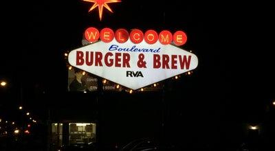 Photo of Burger Joint Boulevard Burger & Brew at 1300 N Boulevard, Richmond, VA 23230, United States