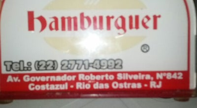 Photo of Burger Joint Passaporte Hamburguer at Av. Governador Roberto Silveira, 842, Rio das Ostras 98890-000, Brazil