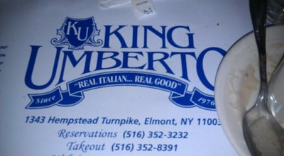 Photo of Italian Restaurant King Umberto Ristorante at 1343 Hempstead Tpke, Elmont, NY 11003, United States