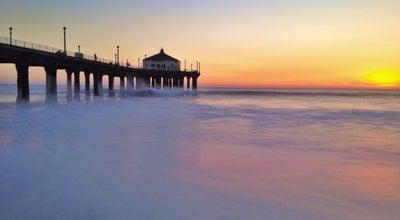Photo of Pier Manhattan Beach Pier at 100 Manhattan Beach Blvd, Manhattan Beach, CA 90266, United States