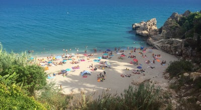 Photo of Beach Playa Carebeillo at Nerja, Spain