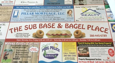 Photo of Breakfast Spot The Sub Base & Bagel Palace at 7 Old Kings Rd N, Palm Coast, FL 32137, United States