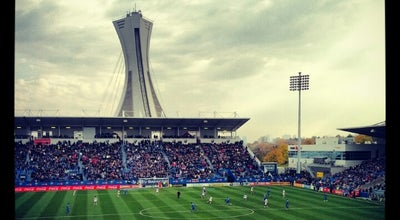Photo of Soccer Stadium Stade Saputo at 4750 Rue Sherbrooke Est, Montréal, QC H1V 3S8, Canada