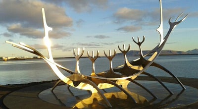 Photo of Monument / Landmark Sólfar / Sun Voyager at Sæbraut, Reykjavik, Iceland