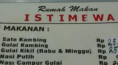 Photo of Steakhouse RM Istimewa (Sate & Gulai) at Cakranegara, Mataram, Indonesia