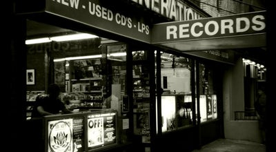 Photo of Record Shop Generation Records at 210 Thompson St, New York, NY 10012, United States