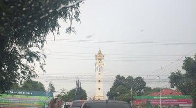 Photo of Monument / Landmark หอนาฬิกาเมืองมหาสารคาม (Maha Sarakham Clock Tower) at Nakhon Sawan Rd., Mueang Maha Sarakham 44000, Thailand