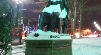 Photo of Outdoor Sculpture Charles Sumner Statue at 1468-1490 Massachusetts Ave, Cambridge, MA 02138, United States
