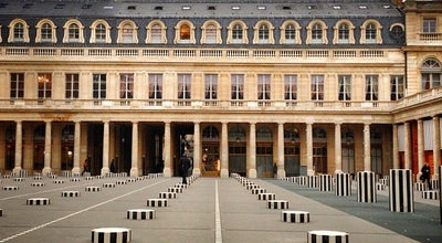 Photo of Sculpture Garden Colonnes de Buren at Palais Royal, Paris 75001, France