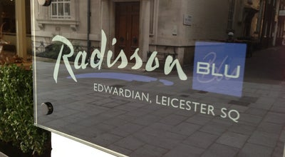 Photo of Hotel Radisson Blu Edwardian Leicester Square Hotel at 3-6 St. Martin's St., London WC2H 7HL, United Kingdom