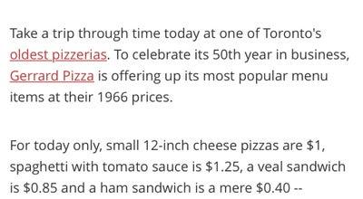 Photo of Pizza Place Gerrard Spaghetti & Pizza House at 1528 Danforth Avenue, Toronto, Ca, Canada