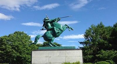 Photo of Monument / Landmark 最上義光公勇戦の像 at 山形市, Japan