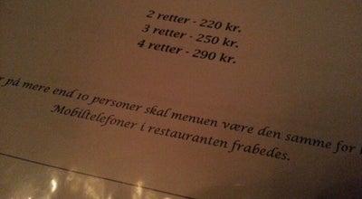 Photo of French Restaurant Restaurant Carte Blanche at Dag Hammerskjölds Allé 1b, København 2100, Denmark