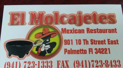 Photo of Mexican Restaurant El Molcajetes at 737 8th Ave W, Palmetto, FL 34221, United States