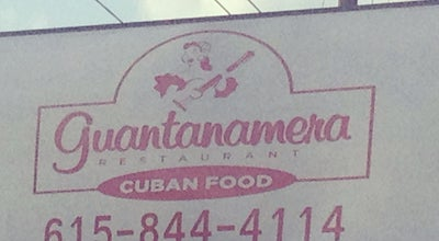 Photo of Cuban Restaurant Guantanamera Cuban Restaurant at 3744 Nolensville Pike, Nashville, TN 37211, United States