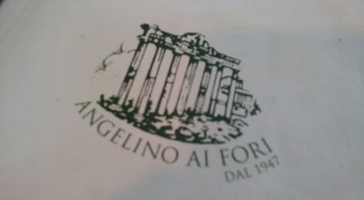 "Photo of Italian Restaurant Angelino ""ai Fori"" dal 1947 at Largo Corrado Ricci, 40/43a, Roma 00184, Italy"