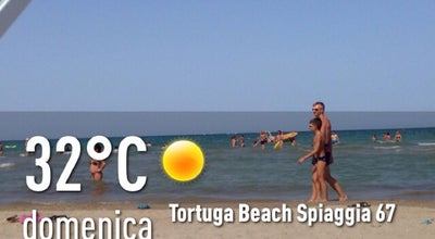 Photo of Beach Tortuga Beach Spiaggia 67 at Lungomare Tintori, Rimini, Italy