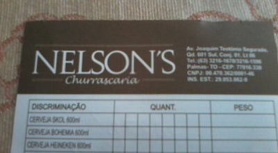 Photo of Steakhouse Nelson's Churrascaria at 601 Sul, Av Teotônio Segurado, Palmas 77015-374, Brazil