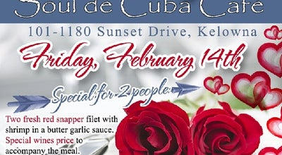 Photo of Cuban Restaurant Soul De Cuba Café at 1180 Sunset Drive, Kelowna, BC, Canada