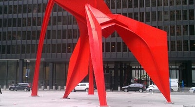 Photo of Public Art Alexander Calder's Flamingo Sculpture at 230 S Dearborn St, Chicago, IL 60604, United States