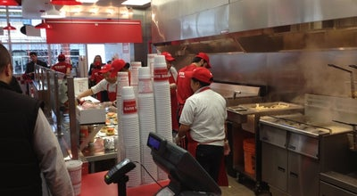 Photo of Burger Joint Five Guys Burgers & Fries at 85 Laird Dr., Toronto, ON, Canada