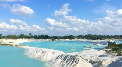 Photo of Lake Danau kaolin at Aik Raya, Belitong, Indonesia