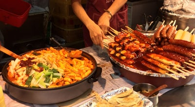 Photo of Asian Restaurant myeongdong food stalls at South Korea