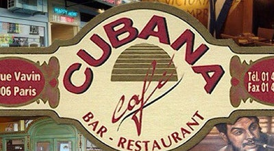 Photo of Bar Cubana Café at 47 Rue Vavin, Paris 75006, France