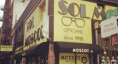 Photo of Clothing Store Sol Moscot Optical at 118 Orchard St, New York, NY 10002