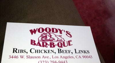 Photo of BBQ Joint Woody's Bar-B-Que at 3446 W Slauson Ave, Los Angeles, CA 90043, United States